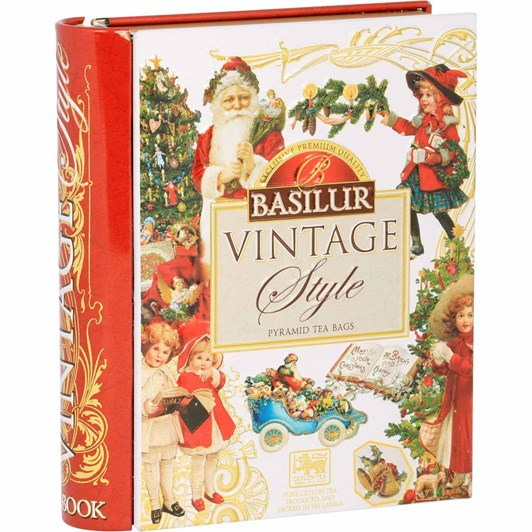 Basilur Vintage Christmas Tea Book White