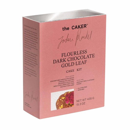 The Caker Flourless Dark Chocolate Gold Leaf Cake Kit