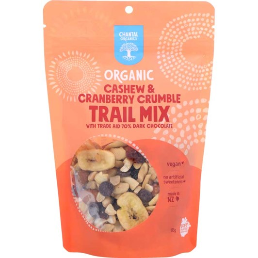 Chantal Organics Cashew & Cranberry Crumble Trail Mix 175g