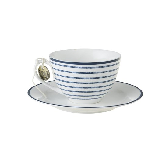 Laura Ashley Cappuccino Cup & Saucer Candy Stripe