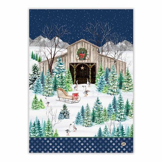 MDW Christmas Snow Tea Towel