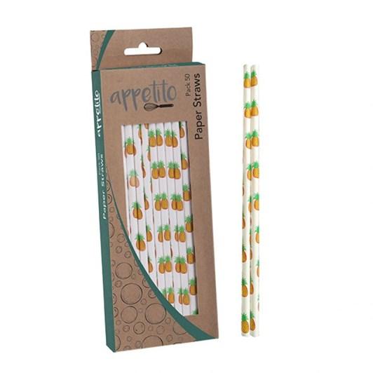 Dline Paper Straws Pack 50  Pineapple