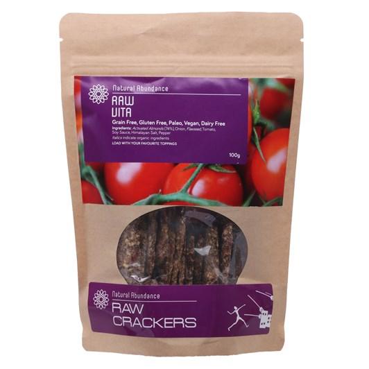Natural Abundance Cracker - Raw Vita 100g