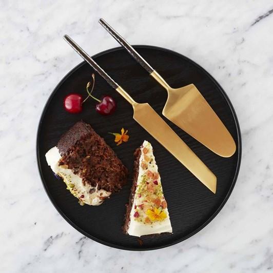 Nel Lusso Santo Cake And Knife Set 29.5x6cm