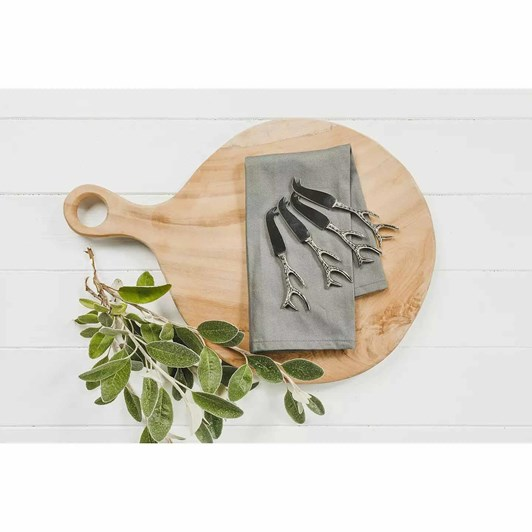 Just Slate Set Of 4 Mini Antler Cheese Knives