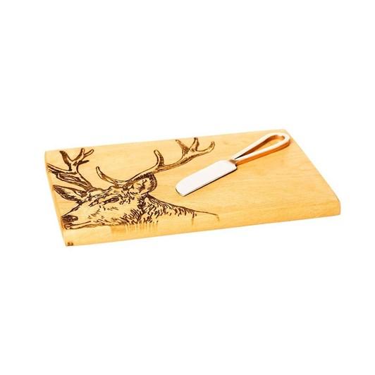 Just Slate Stag Oak Cheese Board & Knife Set