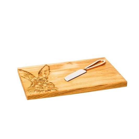 Just Slate Hare Oak Cheese Board & Knife Set