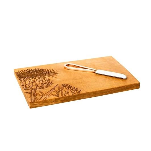 Just Slate Thistle Oak Cheese Board & Knife Set