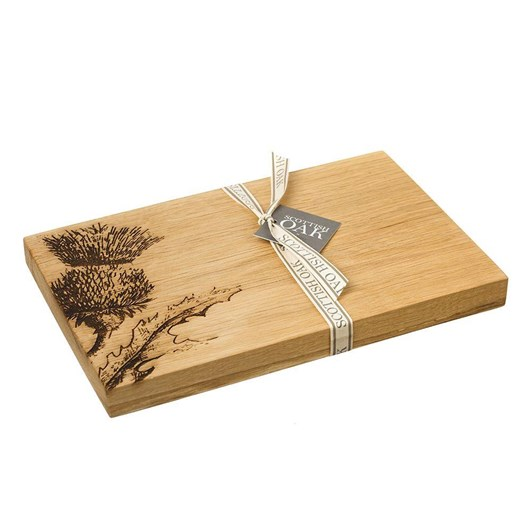 Just Slate Contemporary Thistle Oak Serving Board 30Cm