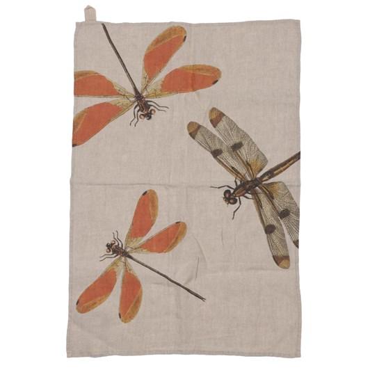 Florence By LR Tea Towel-Dragonfly Orange