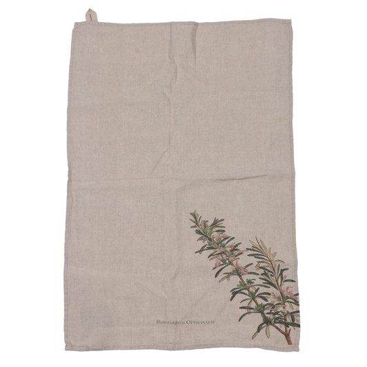 Florence By LR Linen Tea Towel-Rosemary