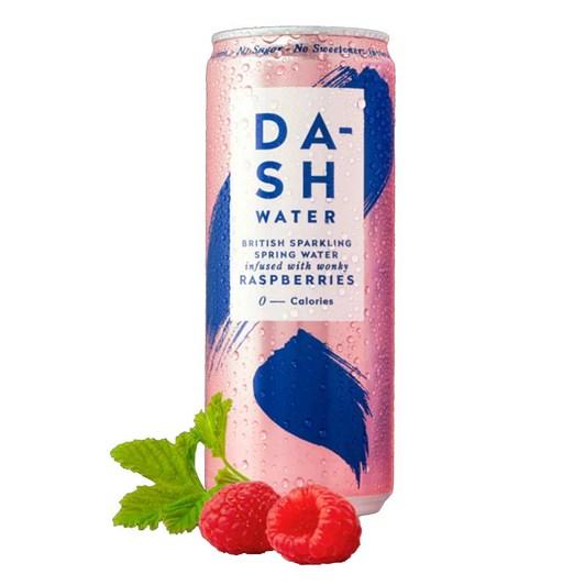 Dash Water Sparkling Raspberry 330ml Can