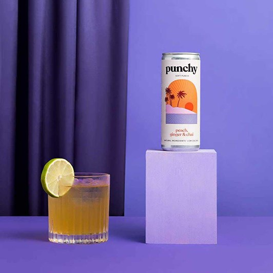 Punchy Drinks Peach, Ginger & Chai Spice - Na Soft Punch  250ml