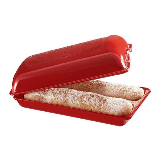Emile Henry Ciabatta Bread Baker 39x23 Burgundy