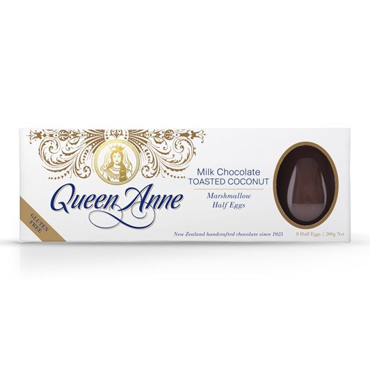 Queen Anne Milk Chocolate Toasted Coconut Marshmallow Easter Eggs 200g