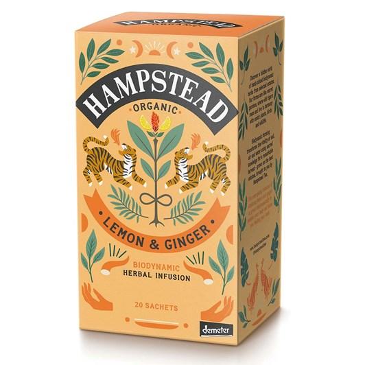 Hampstead Organic Lemon & Ginger 20 Teabags