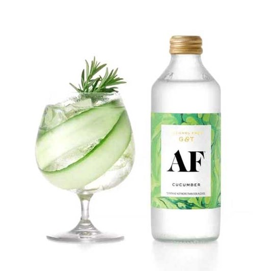 Cucumber AF Alcohol Free Gin & Tonic 4 x 300ml