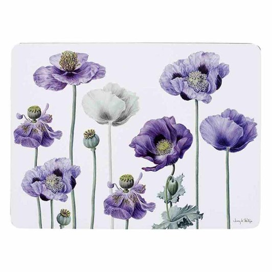 Ashdene Purple Poppies AWM Placemat Pack Of 4
