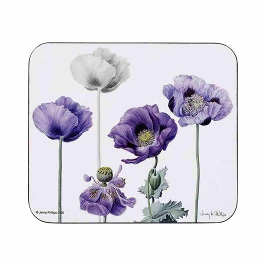 Ashdene Purple Poppies AWM Coaster Pack Of 4
