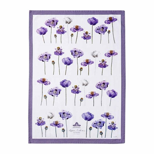 Ashdene Purple Poppies AWM Kitchen Towel