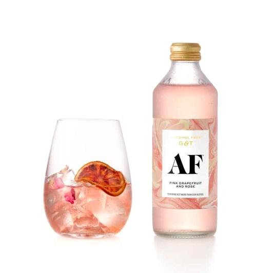 Pink Grapefruit & Rose Alcohol Free Gin & Tonic 4 x 300ml