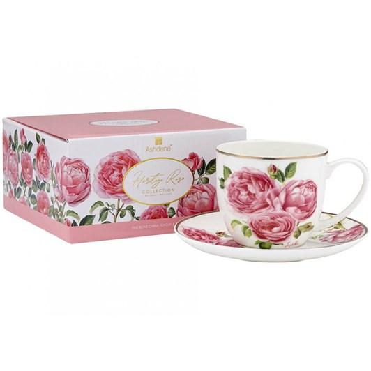 Ashdene Heritage Rose Cup & Saucer