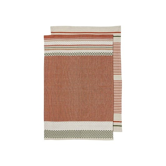 Ladelle Jasper Intrinsic Rust Kitchen Towel Pack Of 2