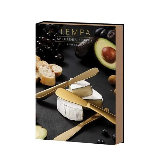 Tempa Fromagerie Spreader Knife 3 Piece Set Gold