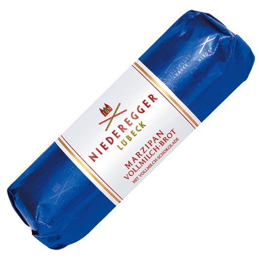 Niederegger Lubeck Milk Chocolate Covered Marzipan Loaf 125g