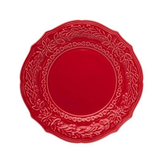 Bordallo Christmas Plate 27 Red