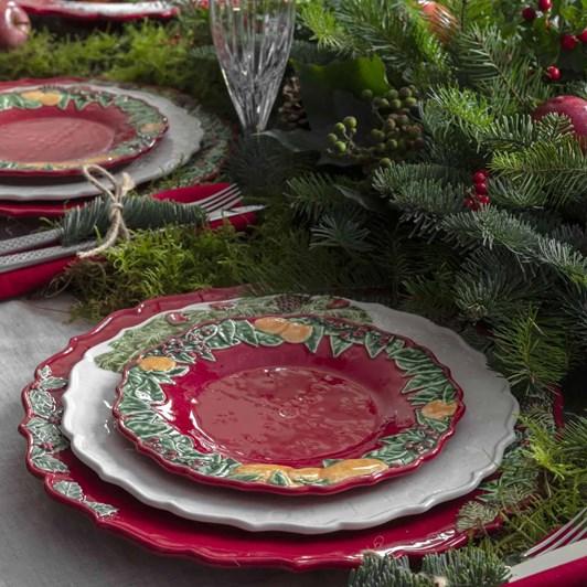 Bordallo Christmas Garland Plate 22