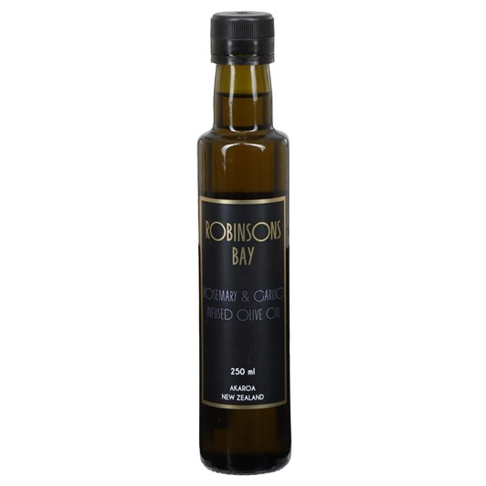Robinsons Bay Olives Rosemary & Garlic Infused Olive Oil 250ml