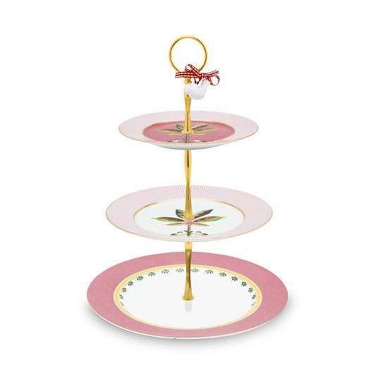 Pip Studio La Majorelle Cake Stand 3 Layers Pink 17-21-26.5cm