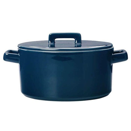 Maxwell & Williams Epicurious Round Casserole 1.3L Teal Gift Boxed
