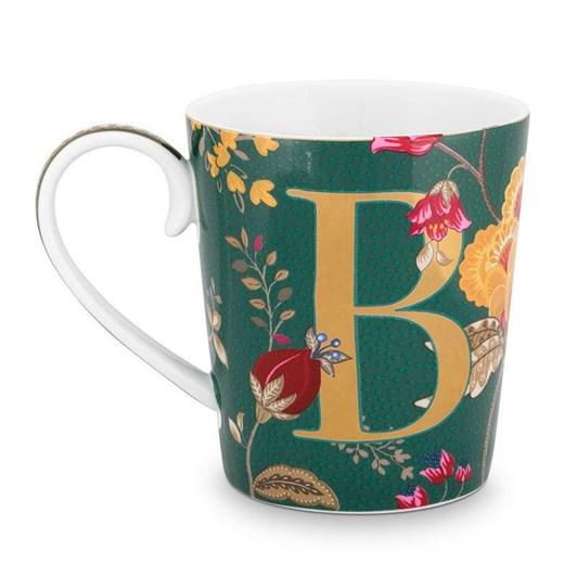 Pip Studio Alphabet Mug Floral Fantasy Green B 350ml
