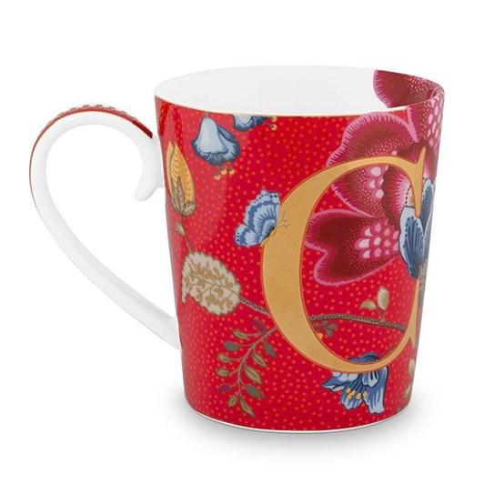 Pip Studio Alphabet Mug Blushing Birds Red C 350ml