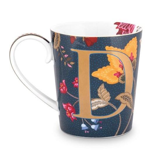 Pip Studio Alphabet Mug Floral Fantasy Blue D 350ml