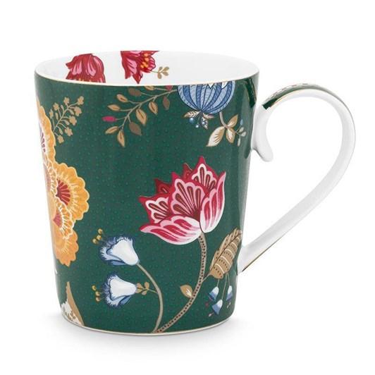 Pip Studio Alphabet Mug Floral Fantasy Green H 350ml