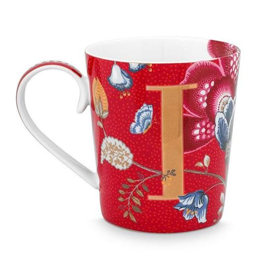 Pip Studio Alphabet Mug Blushing Birds Red I 350ml