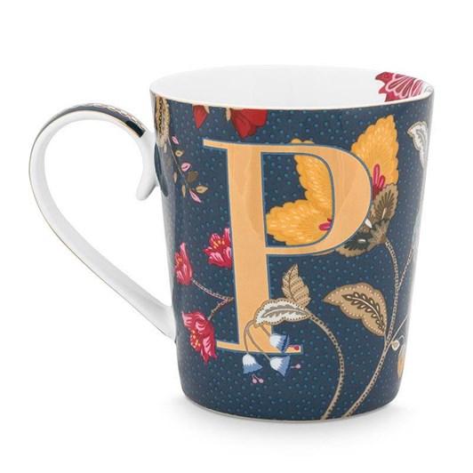 Pip Studio Alphabet Mug Floral Fantasy Blue P 350ml
