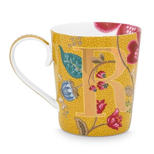 Pip Studio Alphabet Mug Blushing Birds Yellow R 350ml