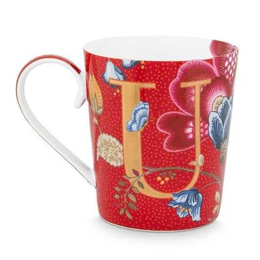 Pip Studio Alphabet Mug Blushing Birds Red U 350ml