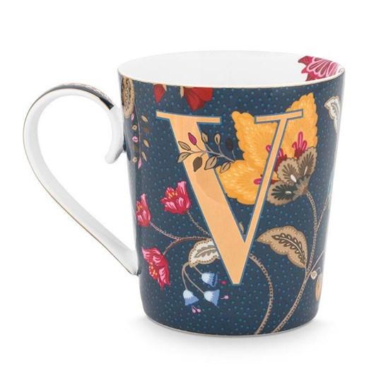 Pip Studio Alphabet Mug Floral Fantasy Blue V 350ml