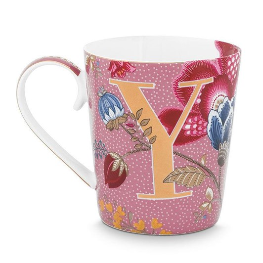 Pip Studio Alphabet Mug Floral Fantasy Pink Y 350ml