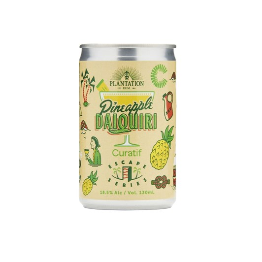 Plantation Rum Pineapple Daiquiri 18.5% 130ml Pack Of 4