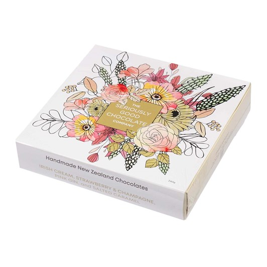 Seriously Good Chocolate Apricot Floral Box Of 16