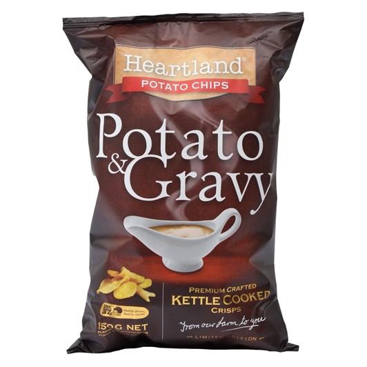 Heartland Potato & Gravy Chips 150g