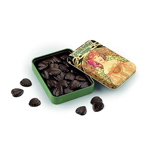Amatller Dark Chocolate Leaves 70% In Tin 60g