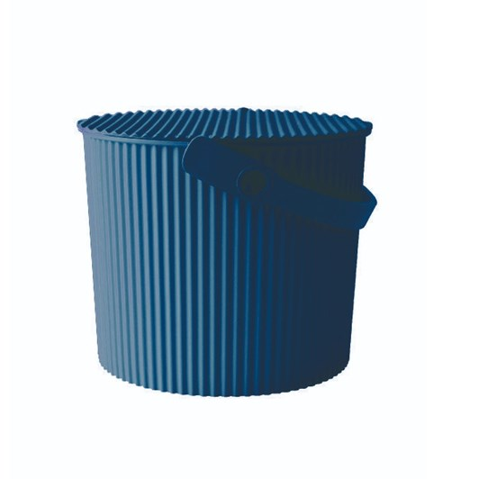Hachiman Medium Storage Bucket With Lid Navy 8L