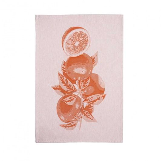 Casafina Kitchen Towel Orange Leaves Set Of 2